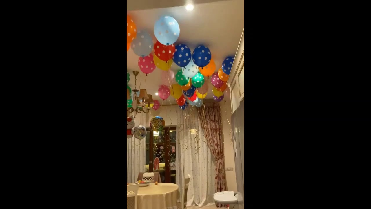 Лера Кудрявцева украсила дом воздушными шарами ко дню рождения дочери