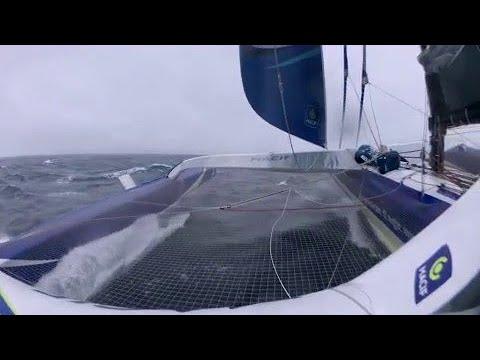 Jour 39 : revivez les 24 dernières heures de François Gabart à bord de son Trimaran MACIF.