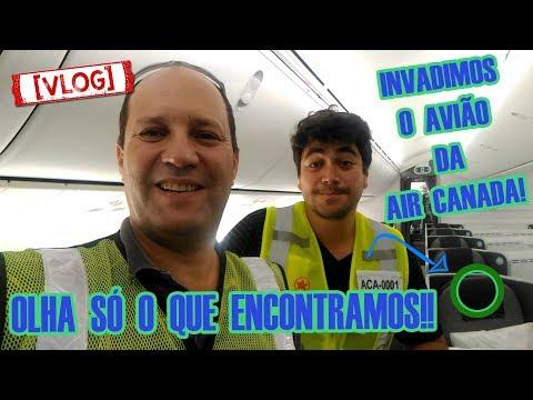 POR DENTRO DO AVIÃO DA AIR CANADA   VLOG VIAJE COMIGO