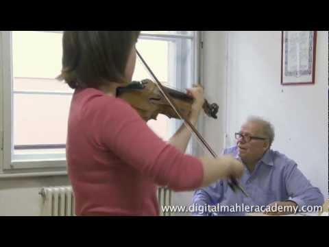DMA 005-13 Rainer Kussmaul violin lesson, Elgar La Capricieuse (CLIP)