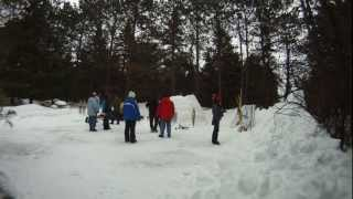 Igloo Demo At Algonquin Park's, Wild About Winter Festival