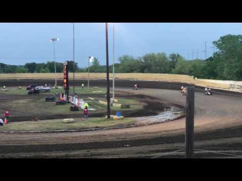 Joshua Gentry Heat Race Win Creek County Speedway 4-28-17