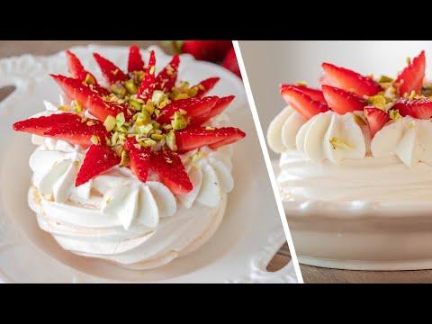 ДЕСЕРТ МИНИ ПАВЛОВА 🍓 вкусные пирожные с клубникой и лимонным кремом 🍋 простой рецепт ЛЕТНЕЕ МЕНЮ