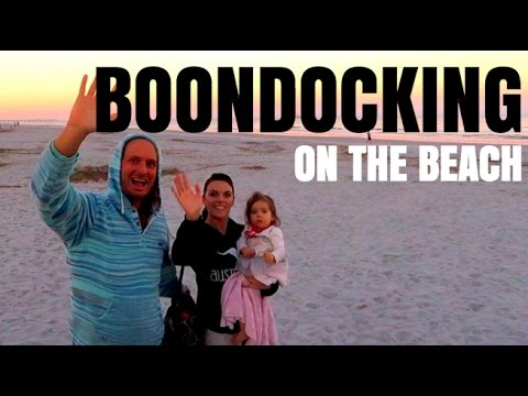 FullTime Rv Motorhome Life in Florida - Boondocking Jacksonville Beach
