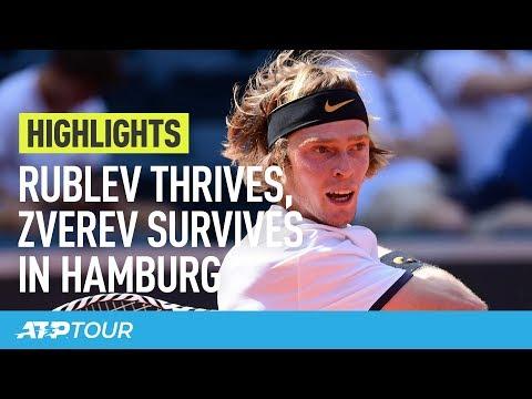 Rublev Stuns Thiem, Zverev Survives In Hamburg | HIGHLIGHTS | ATP