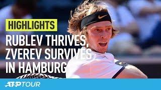 Rublev Stuns Thiem, Zverev Survives In Hamburg   HIGHLIGHTS   ATP