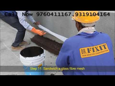 Water Proofing Treatment For Roof using Dr Fixit Roofseal