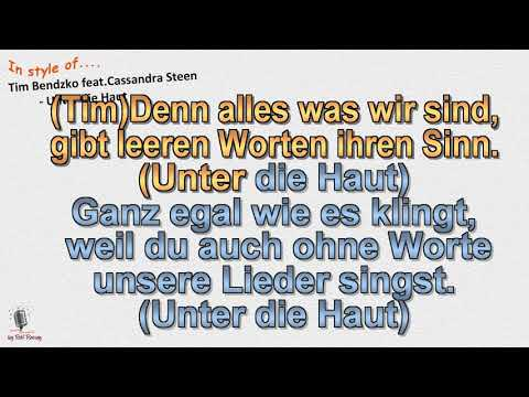 Tim Bendzko - Feat. Cassandra Steen - Unter Die Haut - Instrumental Und Karaoke