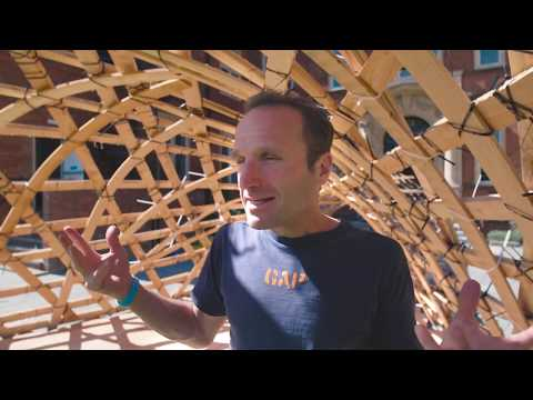 University of Reading Architecture School - Wooden Structure Build | CH Video
