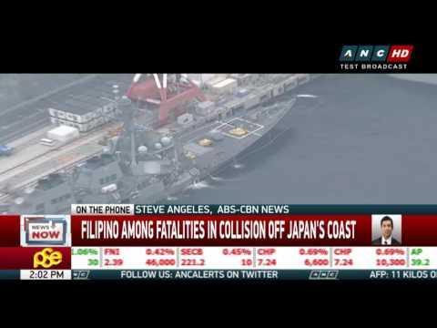 Filipino among fatalities in collision off Japan's coast