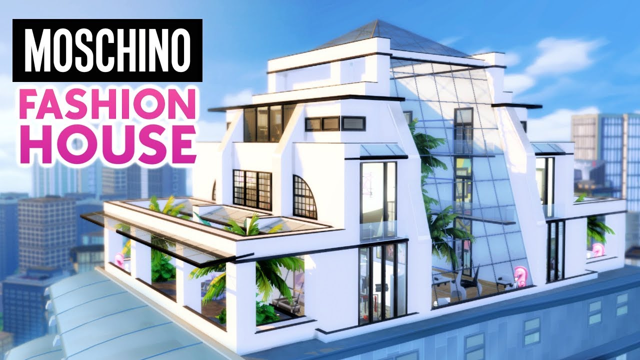 MOSCHINO FASHION HOUSE | Sims 4 Speed Build