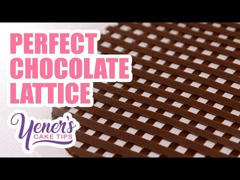How to Make PERFECT CHOCOLATE LATTICE Decorations | Yeners Cake Tips with Serdar Yener