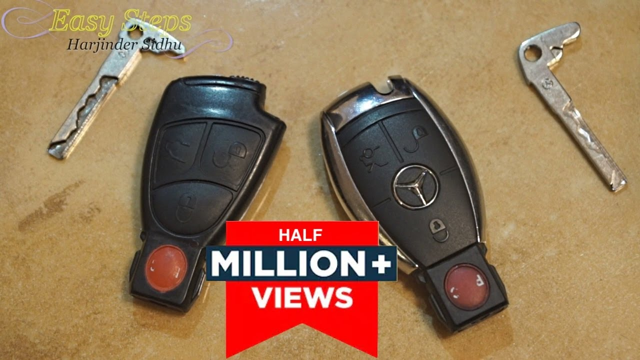 Replace battery mercedes key fob not working smart ke for Replacement key mercedes benz