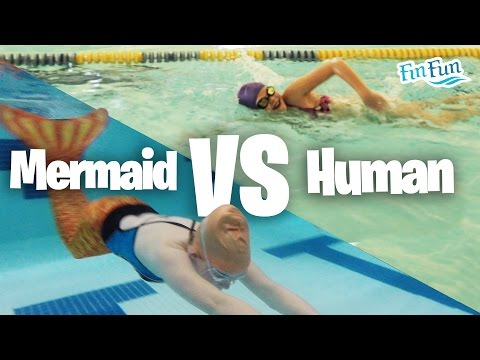 Mermaid Tail Race -  Mermaid Challenge - Mermaid Vs. Human