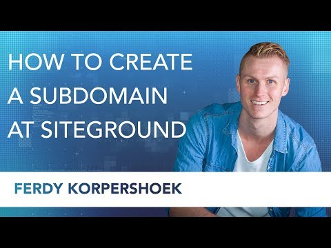 Create a Subdomain with Siteground Webhosting