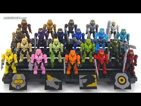 Mega Bloks Halo Spartan Tribute Pack Review! set 97520