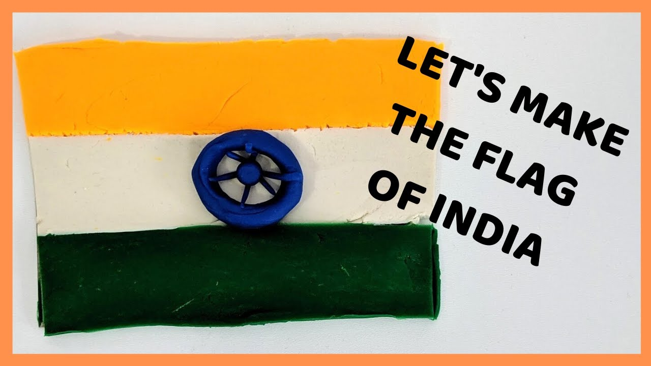 Let's Make the Flag of India with Playdoh! | South Asian Crafts for Kids