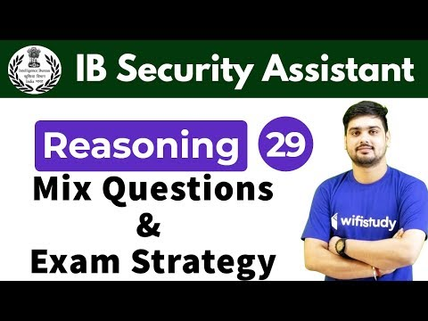 7:30 PM - IB Security Assistant 2018 | Reasoning By Hitesh Sir | Mix Questions And Exam Strategy