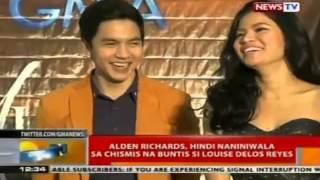 Alden Richard, hindi naniniwala sa chismis na buntis si Louise Delos Reyes