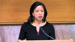 At Stanford, Susan Rice talks about climate change and national security