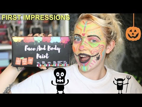 AMAZON FACE AND BODY PAINT FIRST IMPRESSIONS & REVIEW | VLOGOWEEN #15 | IdleGirl