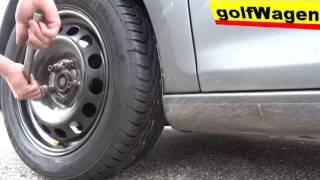 VW Golf 5 - how to change a tire /wheel - summer coming/ by golfWagen
