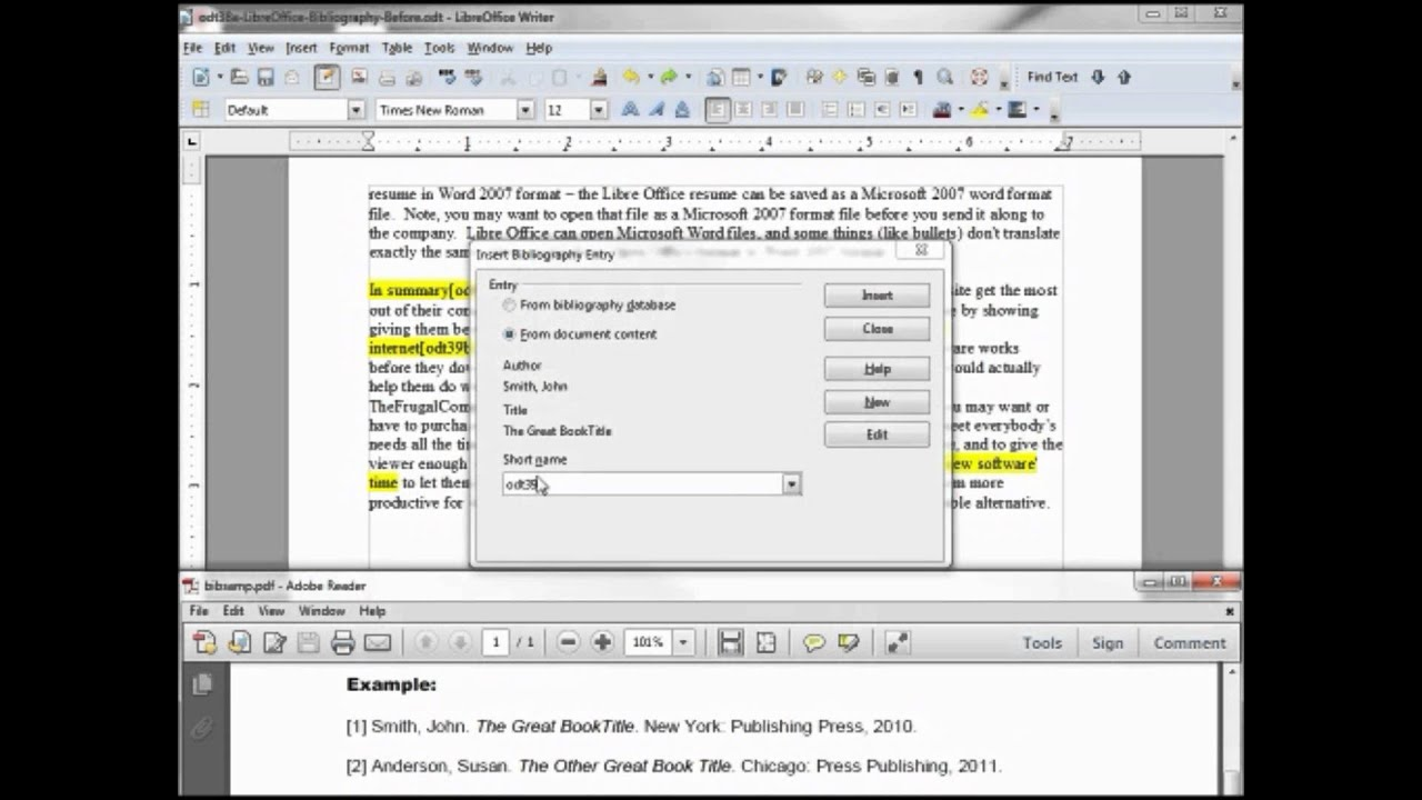 Seitenzahlen Einfügen Libre Office