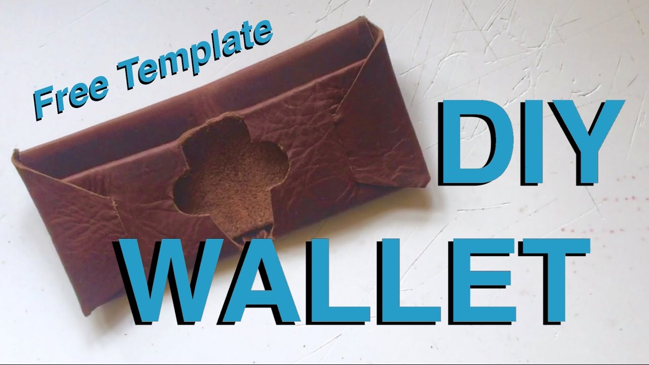 diy how to make a leather wallet with free template youtube