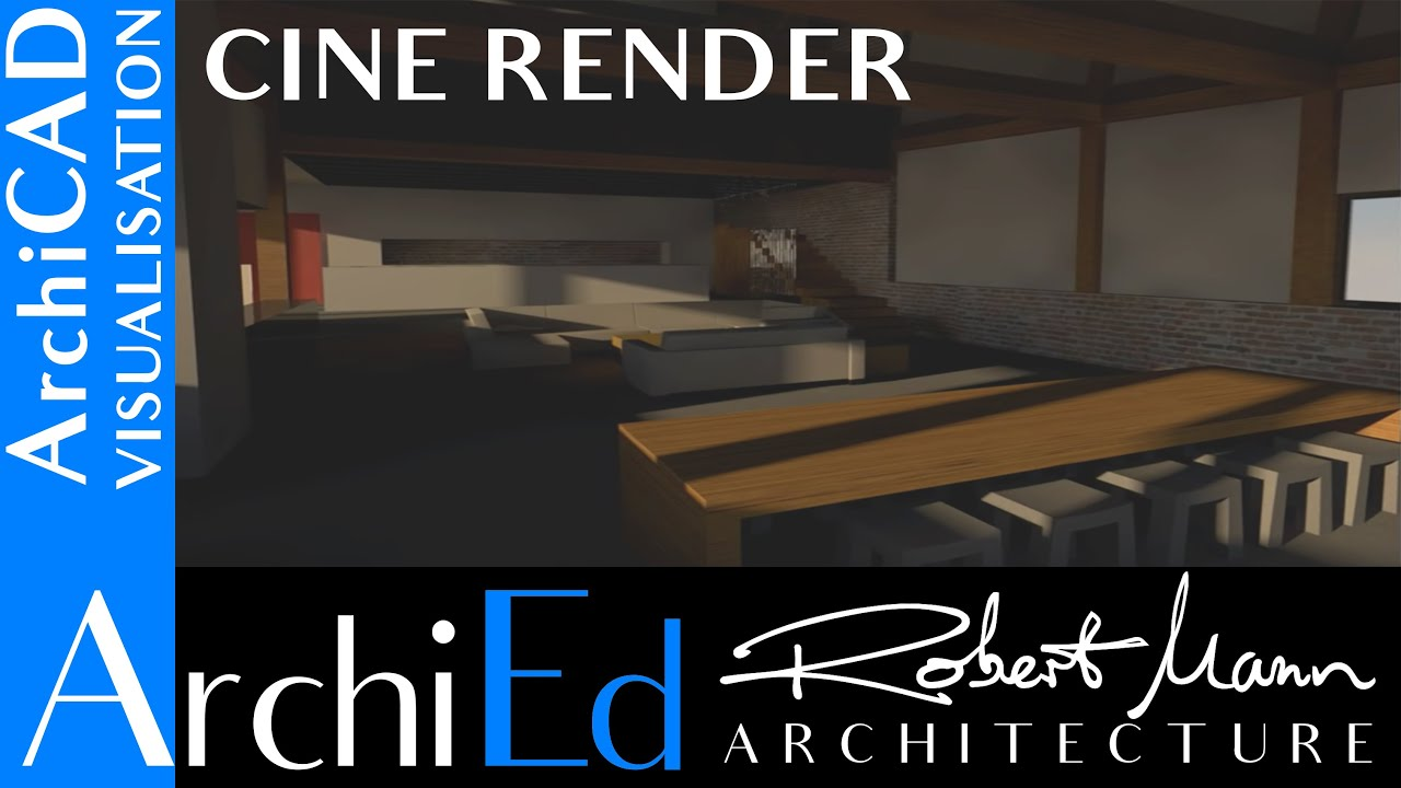 archicad cine render youtube. Black Bedroom Furniture Sets. Home Design Ideas