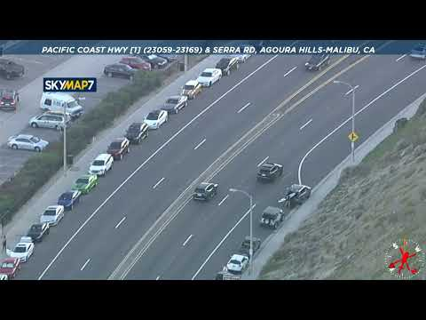 Police Chase Suspected Stolen Vehicle On 110 Freeway In Los Angeles
