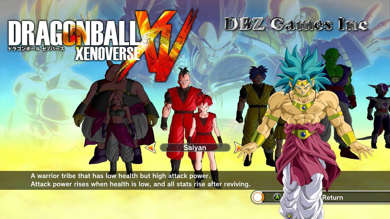 Dragon Ball Xenoverse How To Make Broly Ssgss Cac