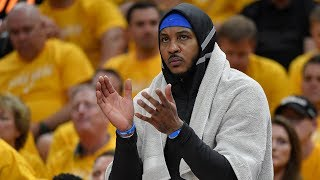 Can Carmelo Anthony Help The Rockets Clean Up Around The Arena After Games?