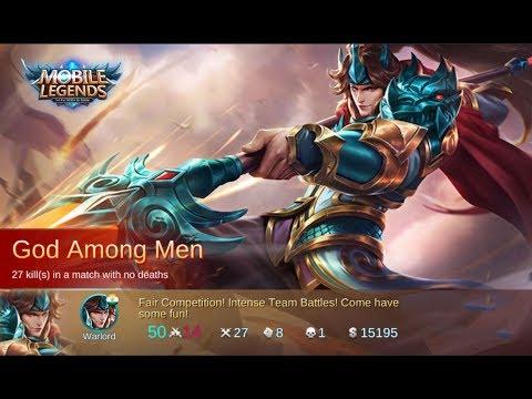Yun Zhao - MVP - Mobile Legends , 27-1-8 God Among Men Build!