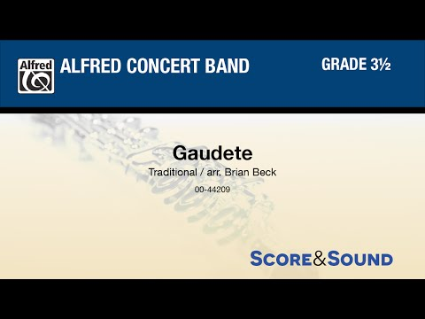 Gaudete, arr. Brian Beck  - Score & Sound