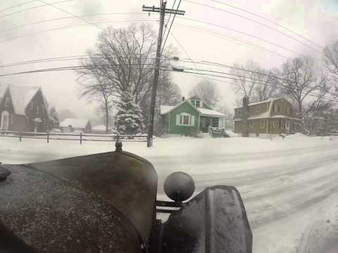 1926 Model T Ford Touring car in Maryland snow. Part 1