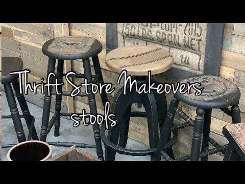 Download Let's Have a Seat    Thrift Store Finds    Stool Makeovers    Decoupage    Milk Paint