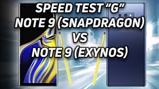 Speed Test G: Note 9 (Snapdragon 845) vs Note 9 (Exynos 9810)
