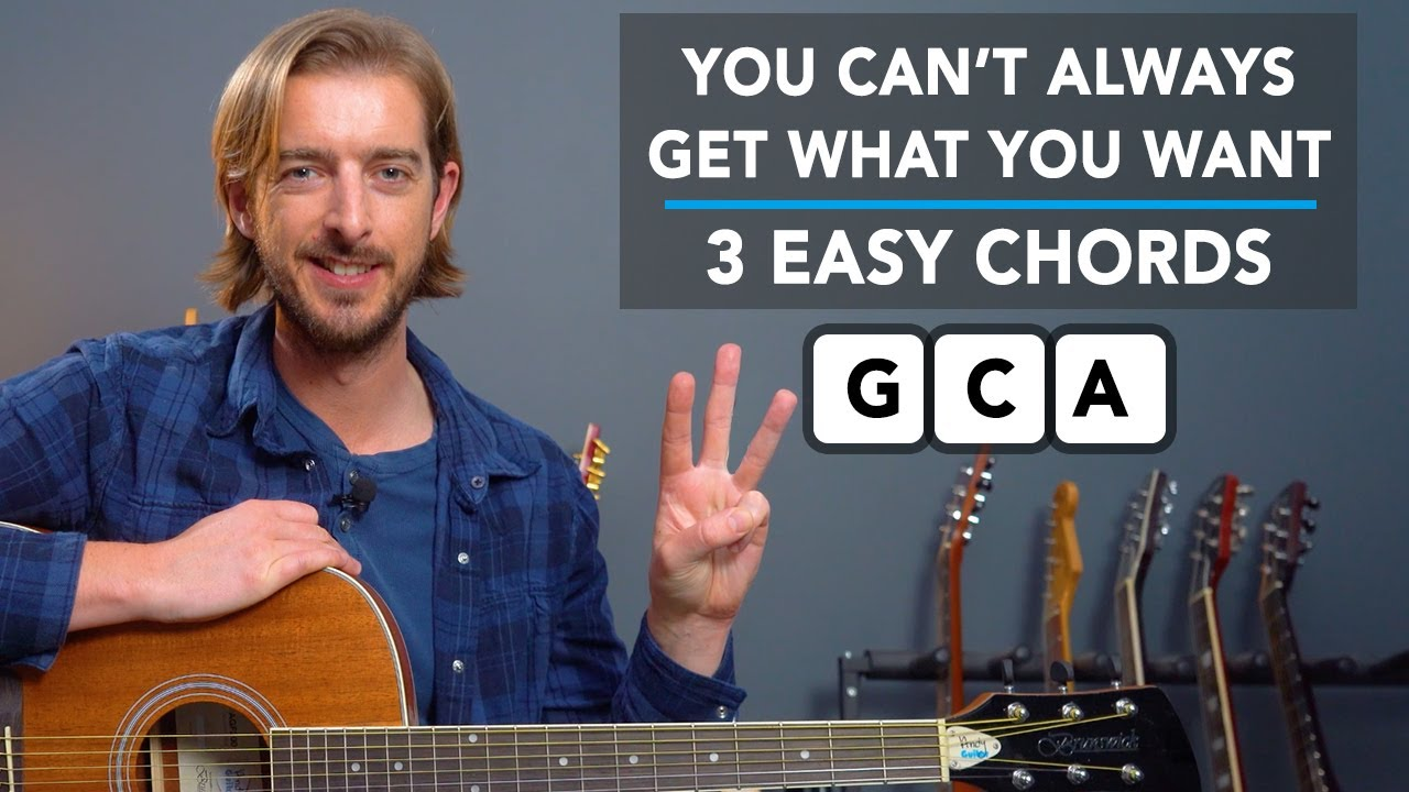 Play 'You Can't Always Get What You Want' by Rolling Stones - 3 EASY CHORDS G, Cadd9 & A!