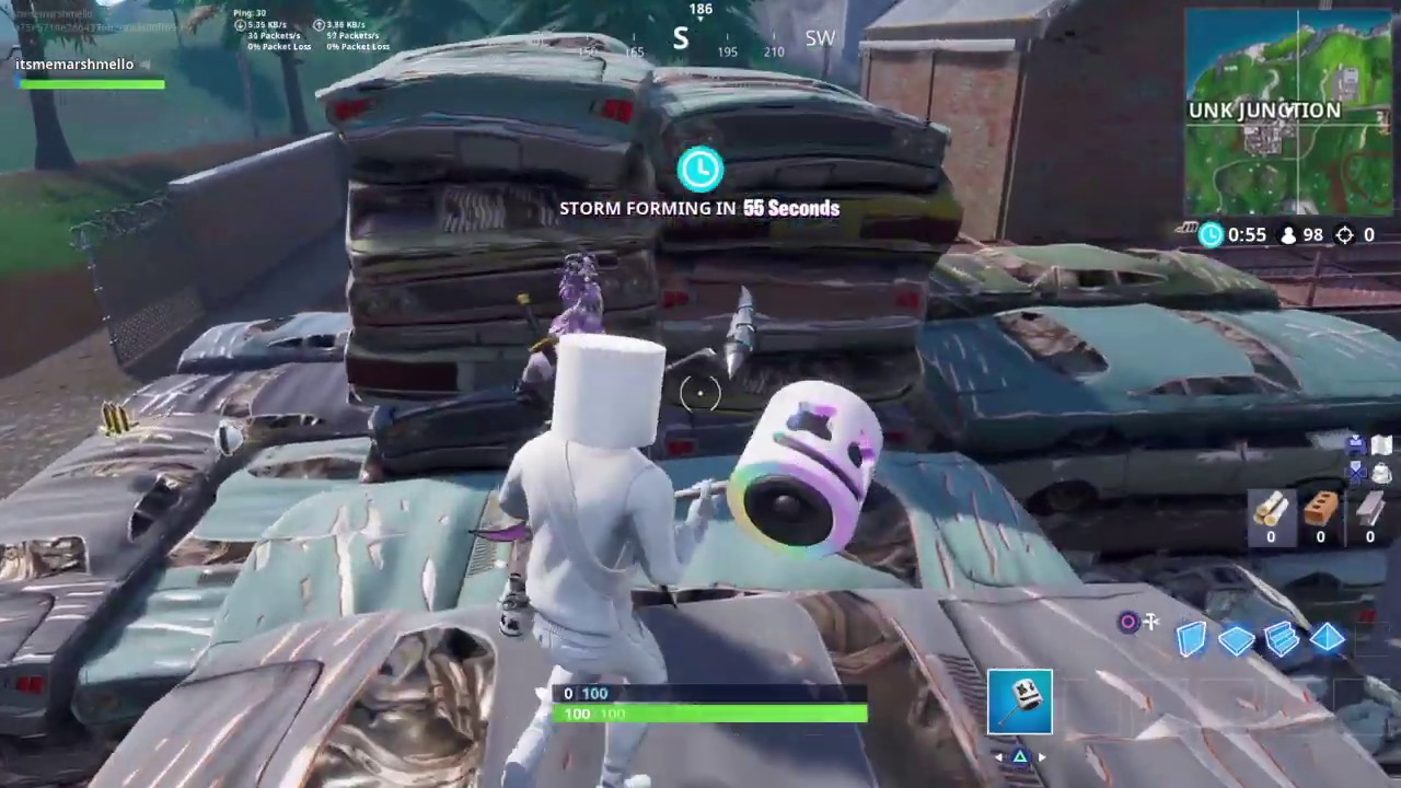 Marshmello Fortnite Kills: They shouldn't have let this Marshmello get the deagle | Happier