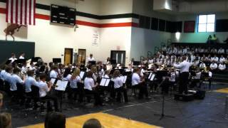 "East Lincoln Middle School 7th grade band ""More Cowbell"""