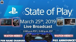 FINALLY PSN NAME CHANGE! State of Play - PS5 Announcement? & PSN Name Change PlayStation Direct