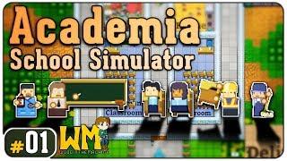 """Você faz a série: Academia School Simulator #01 - """"Construindo Prisões, ops, escolas"""" - Gameplay BR"""
