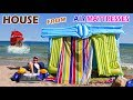 HOUSE FROM AIR MATTRESSES - House By The Sea - How To Build - DIY