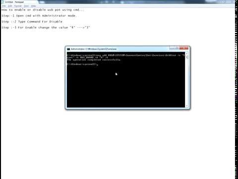 How To Disable And Enable Usb Port Via Command Prompt