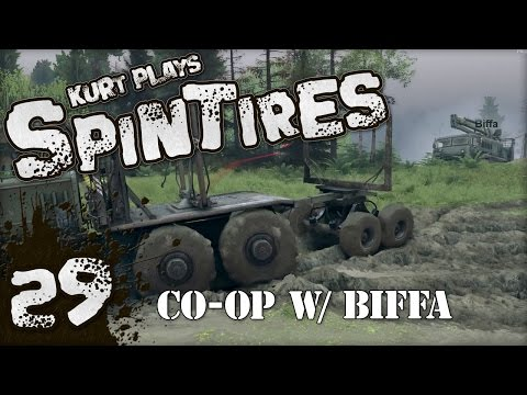Let's Play SpinTires - 29 - Multiplayer Co-op w/ Biffa!