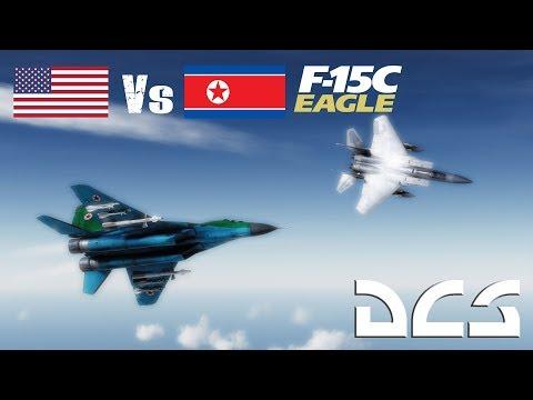 DCS: 6 North Korean Migs vs F15 Eagle TWS BVR/Dogfight