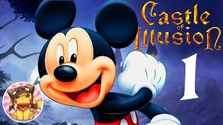 CASTLE OF ILLUSION STARRING MICKEY MOUSE Disney Cartoon Gameplay Level 1 - ENCHANTED FOREST [HD]