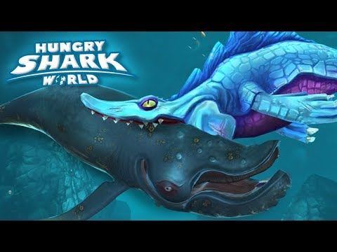 Max Mosasaur Eats the Largest Whale!!! - Hungry Shark World | Ep 57 HD