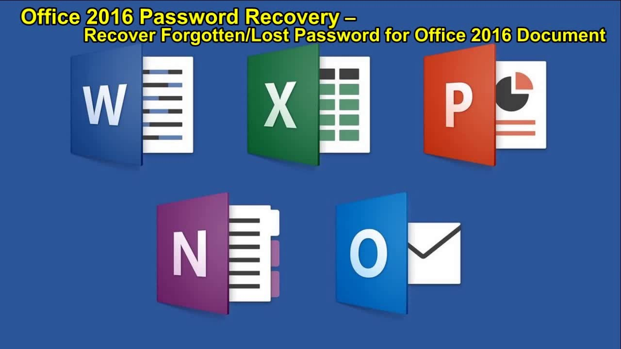 ms office 2016 password remover