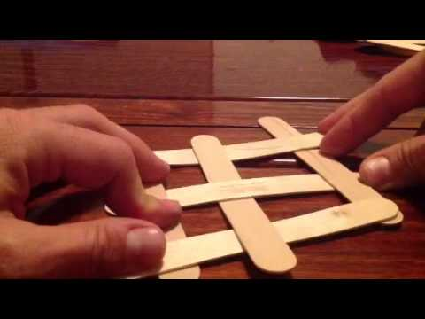 Craft Stick Shapes Without Glue。 用冰棒棍制造形状,不用胶水 - YouTube